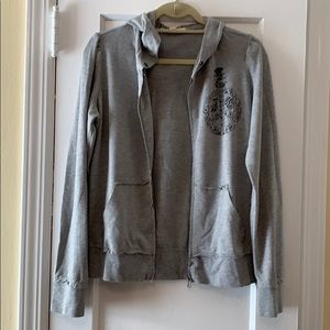 Forever 21 Gray Peace Hoodie